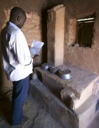 Energiesparofen im Niger Afrika