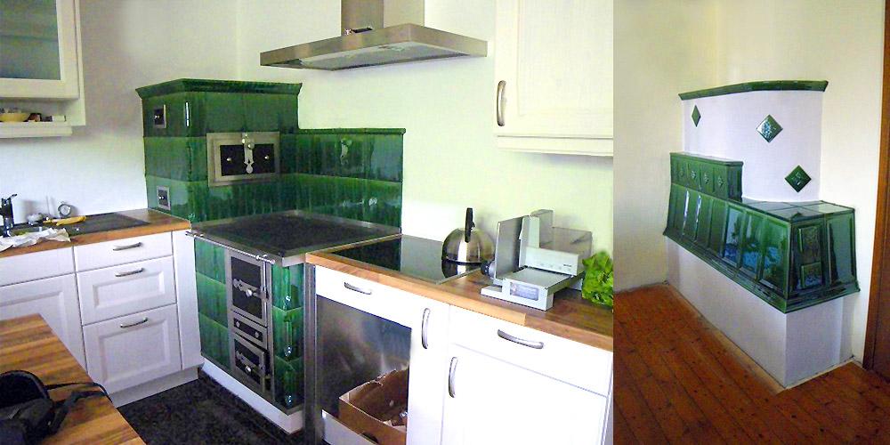 Durchheizherd in der Küche