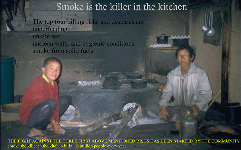 smoke killer in the kitchen, Bhutan