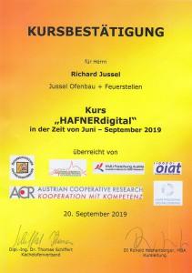 HAFNERdigital Zertifikat Sept2019