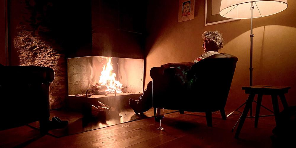 Hausfeuerstelle - Offener Kamin und Portrait